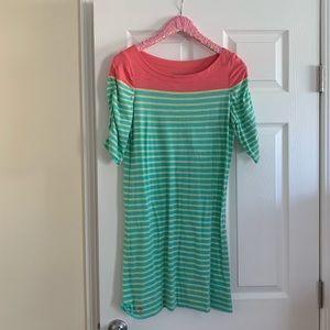 Lilly Pulitzer Striped Boatneck Dress Size M